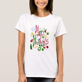 Cute Happy Holidays Design T-Shirt