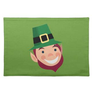 Cute Happy Irish Leprechaun Place Mat