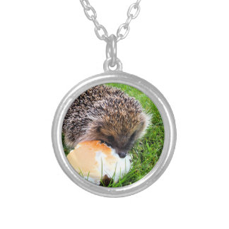 CUTE HEDGEHOG SILVER PLATED NECKLACE