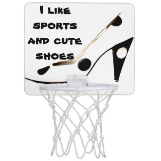 Cute High Heel Shoe Female Athlete Mini Basketball Hoop