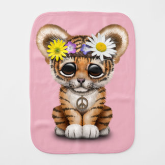 Cute Hippie Tiger Cub Burp Cloths