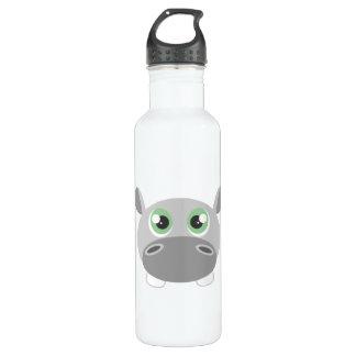 Cute Hippo Cartoon 710 Ml Water Bottle