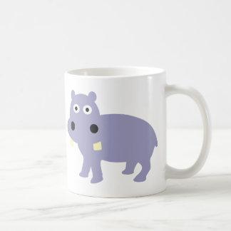 Cute Hippo Comic Style - hippopotamus Coffee Mug