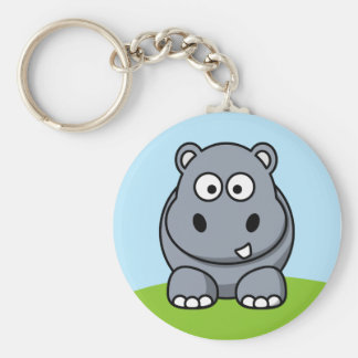 Cute Hippo Key Ring
