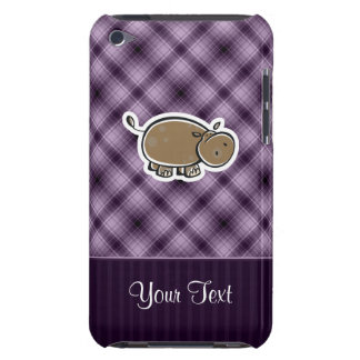 Cute Hippo; Purple Barely There iPod Cover