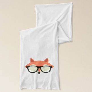 Cute Hipster Red Fox Scarf