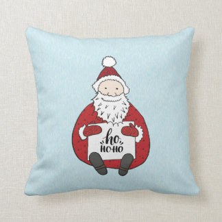 Cute ho ho ho Santa drawing Christmas Cushion