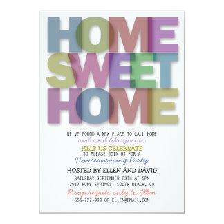 Cute Home Sweet Home Housewarming Invitations