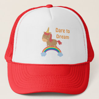 Cute Horse Dreams to be Unicorn Humor Trucker Hat