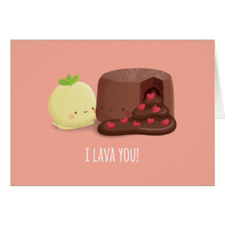 Cute I Lava You Valentines Day Love Greeting Card