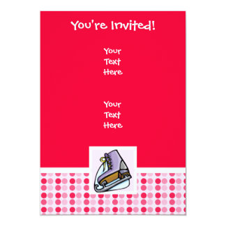 "Cute Ice Skate 5"" X 7"" Invitation Card"