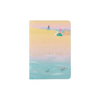 Cute illustration of mermaids' day on the Beach Passport Holder
