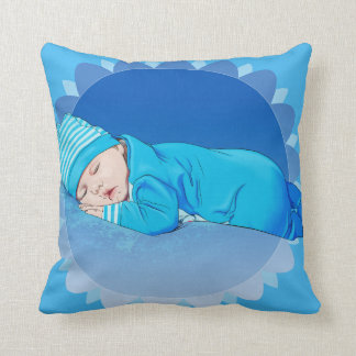 cute infant baby boy illustration pillow lovely