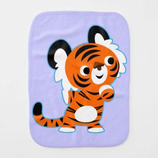 Cute Interested Cartoon Tiger Burp Cloth