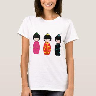 cute japanese doll designed t- shirt for women