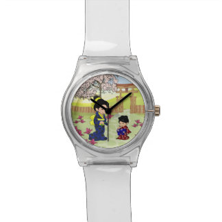 Cute japanese Mother and child Watch