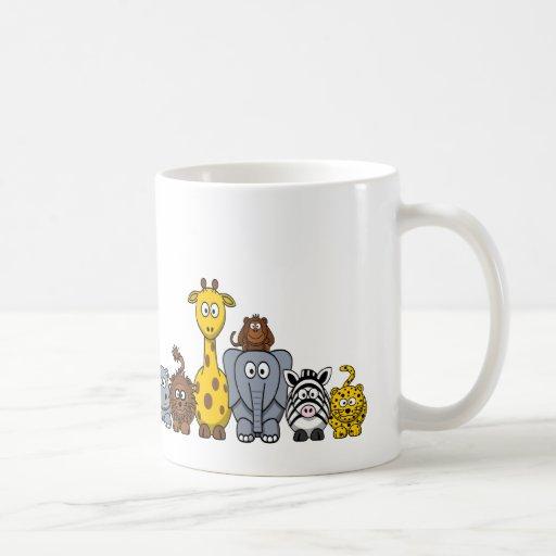 CUTE JUNGLE ANIMALS ADD YOUR TEXT COFFEE MUGS