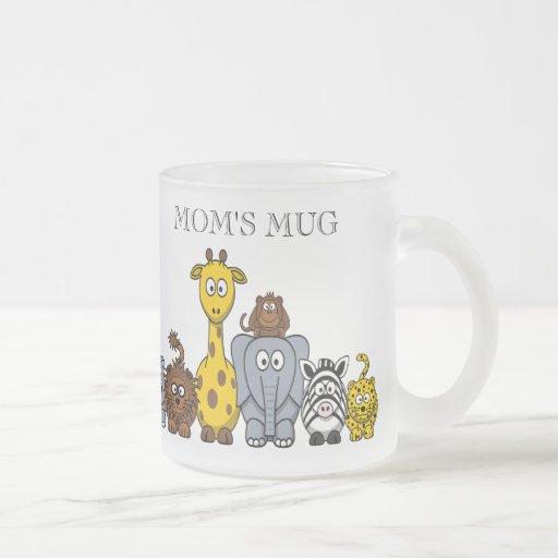 "CUTE JUNGLE ANIMALS ""MOM'S MUG"""