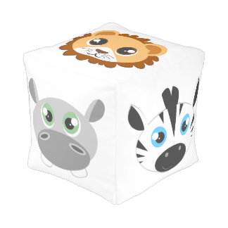 Cute Jungle Animals Pouf