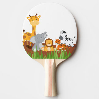 Cute Jungle Baby Animals Ping Pong Paddle