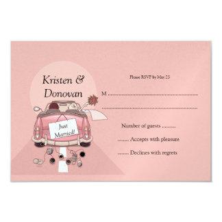 Cute Just Married RSVP 9 Cm X 13 Cm Invitation Card