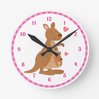 Cute Kangaroo Baby Joey Kids Room Decor Clocks