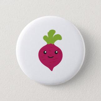 Cute Kawaii Beet 6 Cm Round Badge