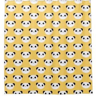 Cute Kawaii Blushing Panda Face Pattern Shower Curtain