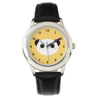 Cute Kawaii Blushing Panda Face with Numbers Watch