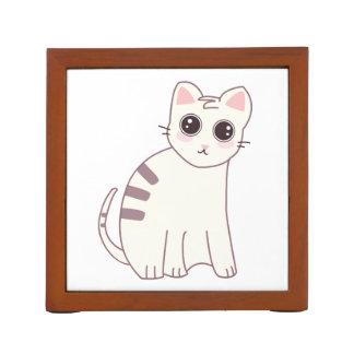Cute Kawaii Cat Illustration Desk Organiser