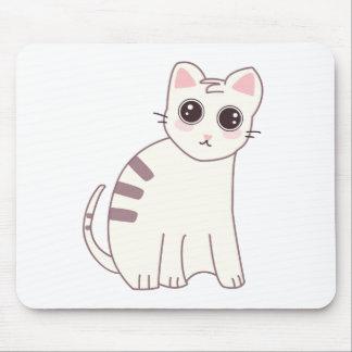 Cute Kawaii Cat Illustration Mouse Pad