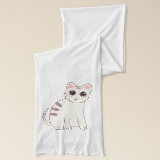 Cute Kawaii Cat Illustration Scarf