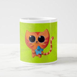 Cute Kawaii Cat with Star 20 Oz Large Ceramic Coffee Mug