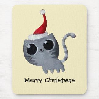 Cute Kawaii Christmas Cat Mousepad