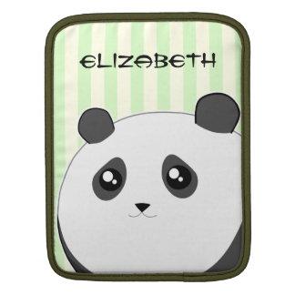 Cute Kawaii chubby panda bear Sleeves For iPads