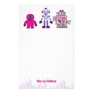 Cute & Kawaii Girl's Pink Cyborgs Robot Stationery
