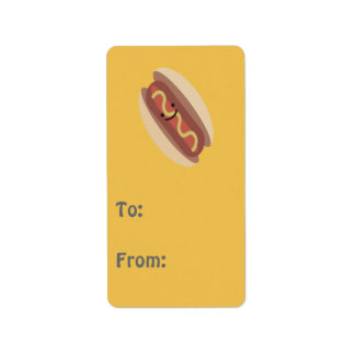 Cute Kawaii Hot Dog Address Label