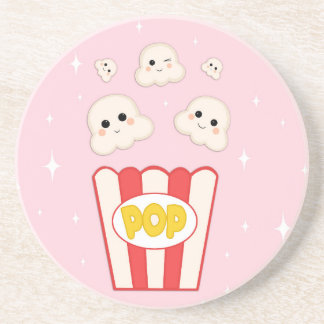 Cute Kawaii Popcorn Coaster