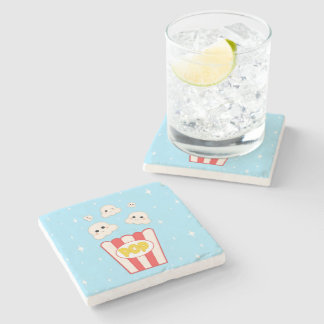 Cute Kawaii Popcorn Stone Coaster