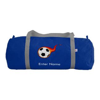 Cute Kids Fire Soccer Ball Gym Bag Gym Duffel Bag