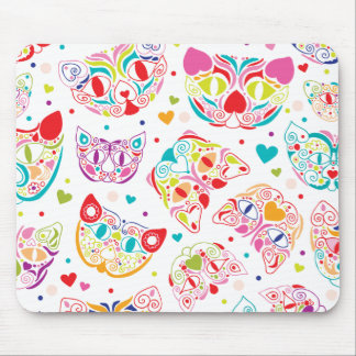 Cute kitten folklore cat pattern mouse pad