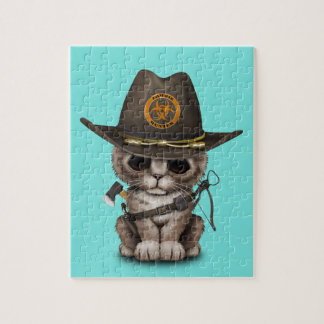 Cute Kitten Zombie Hunter Puzzle