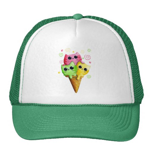 Cute Kitty Cat Ice Cream Hats
