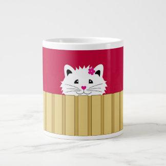 Cute Kitty Cat Mug 20 Oz Large Ceramic Coffee Mug