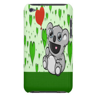 Cute Koala with Red Heart Balloon iPod Touch Cases