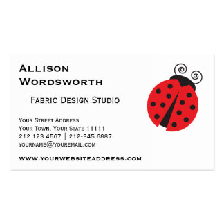 Cute Ladybug Drawing Pack Of Standard Business Cards