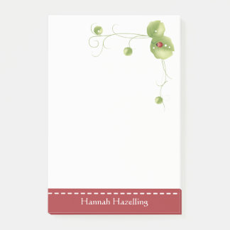 Cute Ladybug Personalized Note Pad