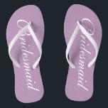 3a894c869b62 Cute lavender purple bridesmaid wedding flip flops br  div class