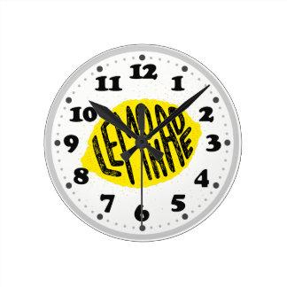 Lemon Lemonade Wall Clocks Zazzle Co Nz
