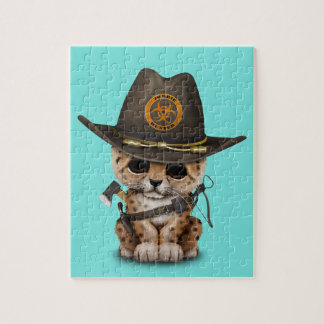 Cute Leopard Cub Zombie Hunter Puzzles